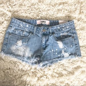 Victoria's Secret PINK distressed jean shorts